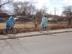 FLDS girls on bikes