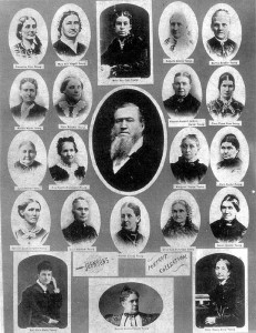 Brigham Young with some of his 55 wives