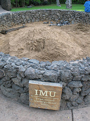 Imu cooking pit in Hawaii