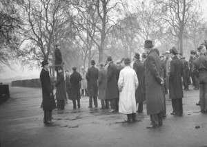 Speakers' Corner, Hyde Park in 1944 (Roberts, 1995) © 1995 Charles C. Roberts, Jr.